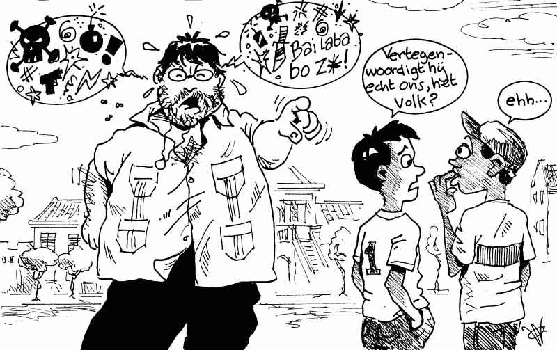 Nieuwe standaard voor parlementair decorum... | AD cartoon